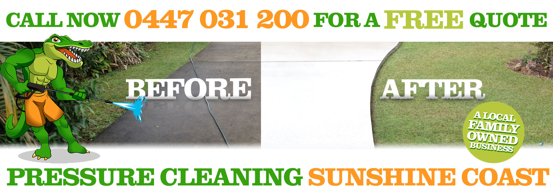 Pressure Cleaning Sunshine Coast Website Home Page Slide 01